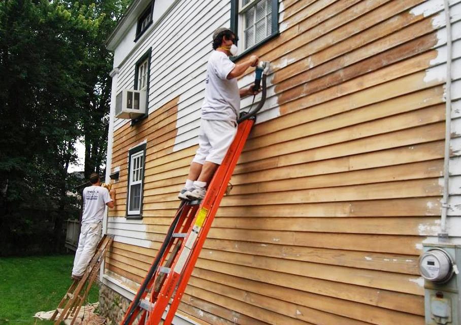 painting an exterior wall exterior paint